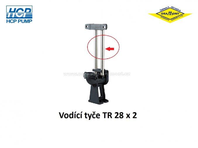 Vodící tyče pro spouštěcí zařízení HCP TR 28 x 2