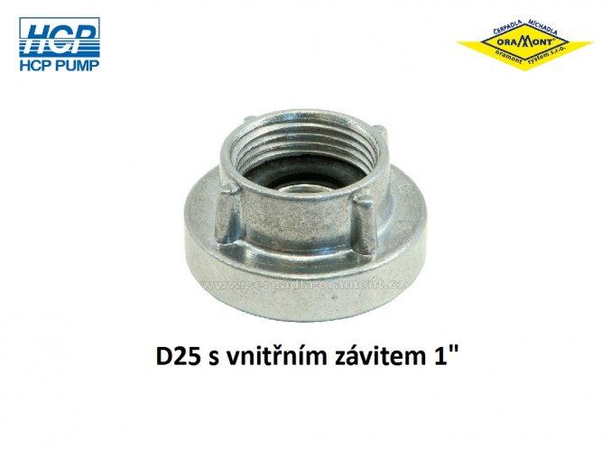Požární spojka D25 pevná vnitřní 1 závit