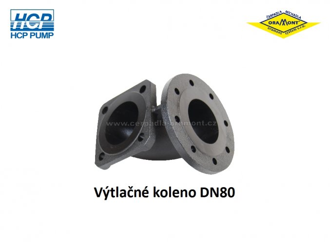 Výtlačné koleno DN80