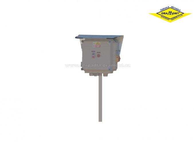 Konzole ovládací skříě pro čerpadla PO, POR a míchadla MO, MON