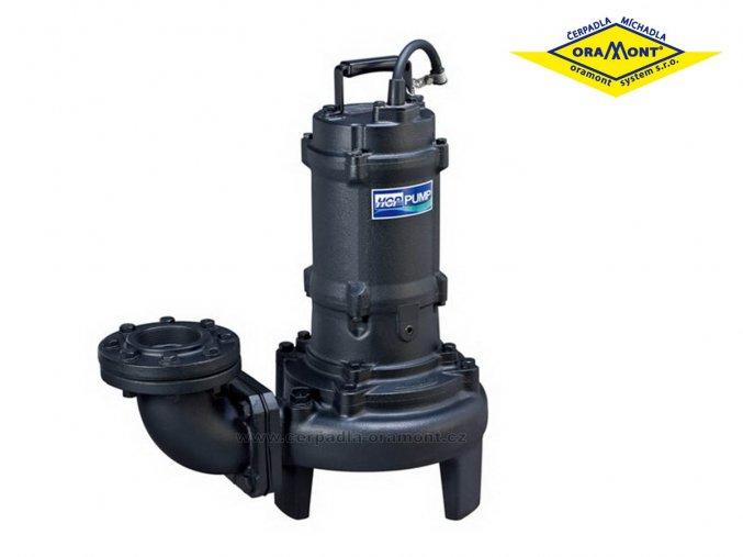 Těžké kalové čerpadlo na surové kaly HCP 80AFU23.7LA WD 3,7kW 400V