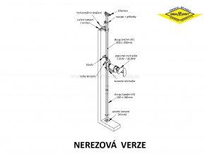 Závěsné zařízení pro míchadla ORAMONT® MO | MON (nerez)