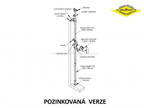 Závěsné zařízení pro míchadla ORAMONT® MO | MON (pozink)