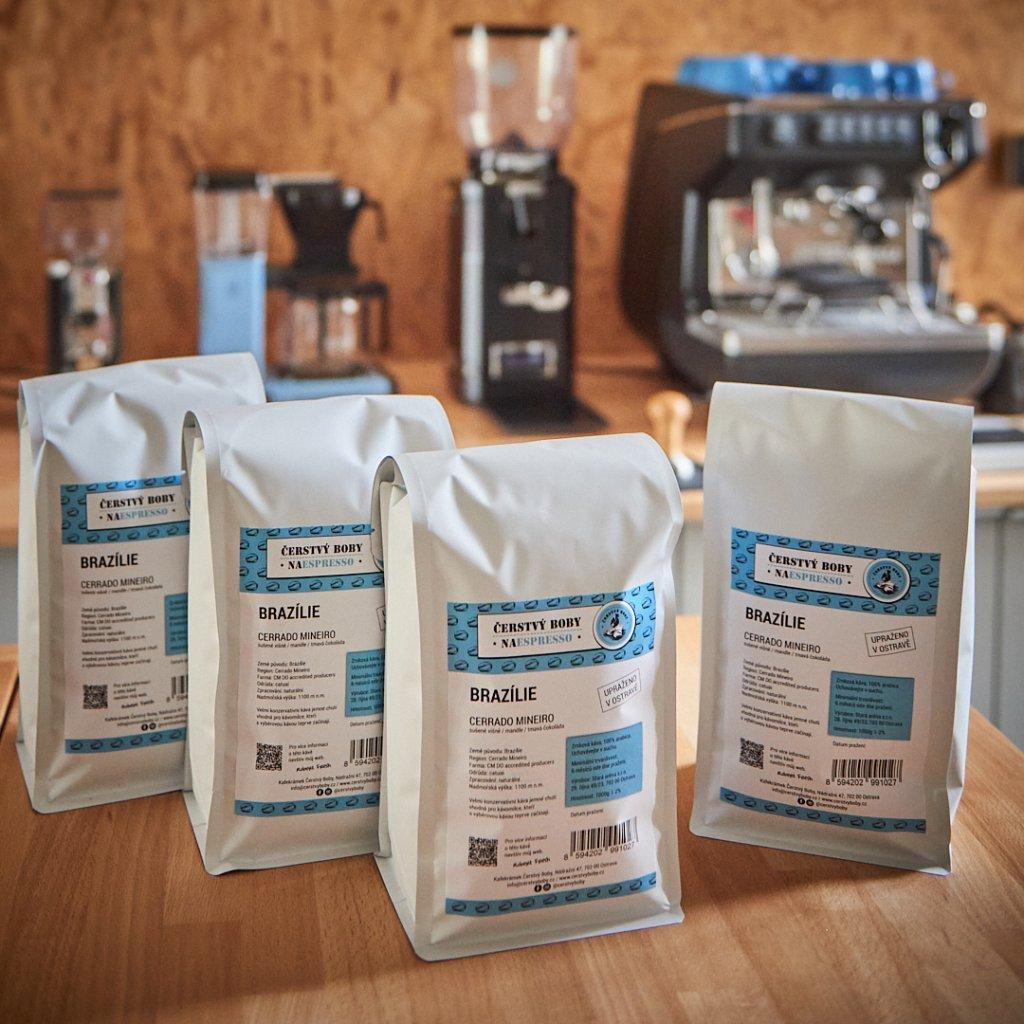 Zrnková káva CERRADO MINEIRO (Brazílie) - sada 4x 1kg - AKCE 3+1 ZDARMA