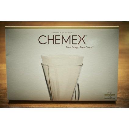 Papírové filtry na kávu pro Chemex CM-1C (100 ks)