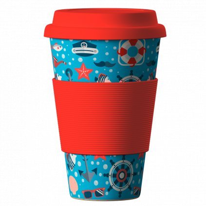 Bamboo Cup Sea red