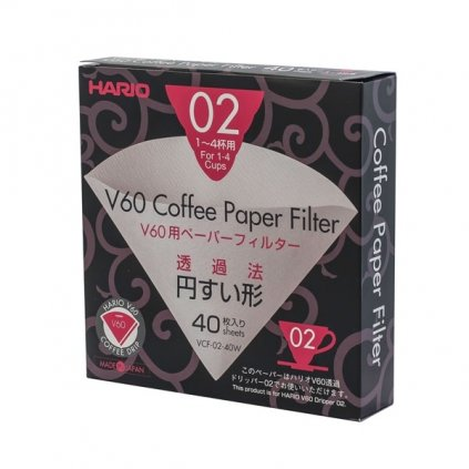 Papírové filtry V60-02 bělené (40 ks)