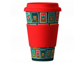 Bamboo Cup Postmarks red