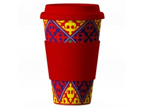 Bamboo Cup Ornaments red