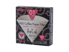 Papírové filtry V60-01 bělené (40 ks)
