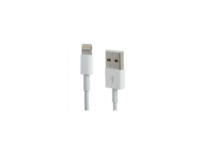 synchronizacni a nabijeci kabel lightning pro apple iphone ipad ipod 1m bily