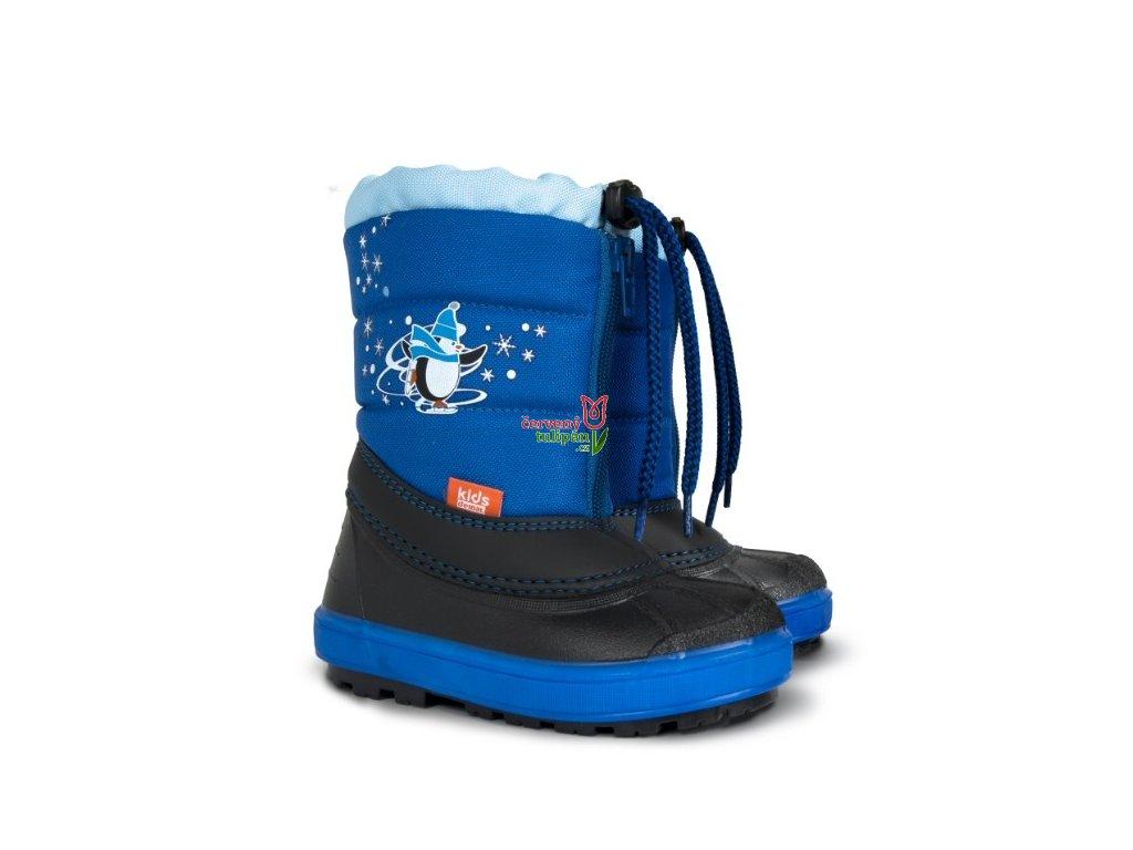 c579c2e9fc4 Sněhulky sněhule zimní boty Demar Kenny A modré - Červený Tulipán