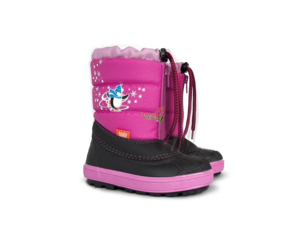 1adbc3022d3a Sněhulky sněhule zimní boty Demar Kenny b růžové - Červený Tulipán