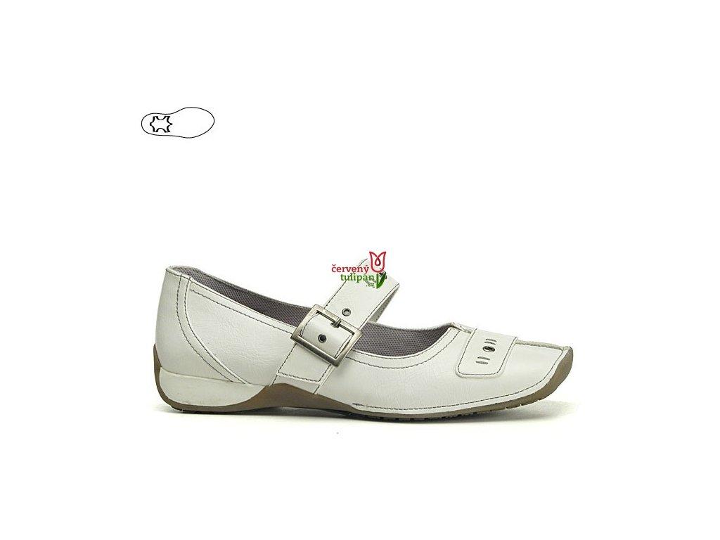 Bílé boty s koženou stélkou 957
