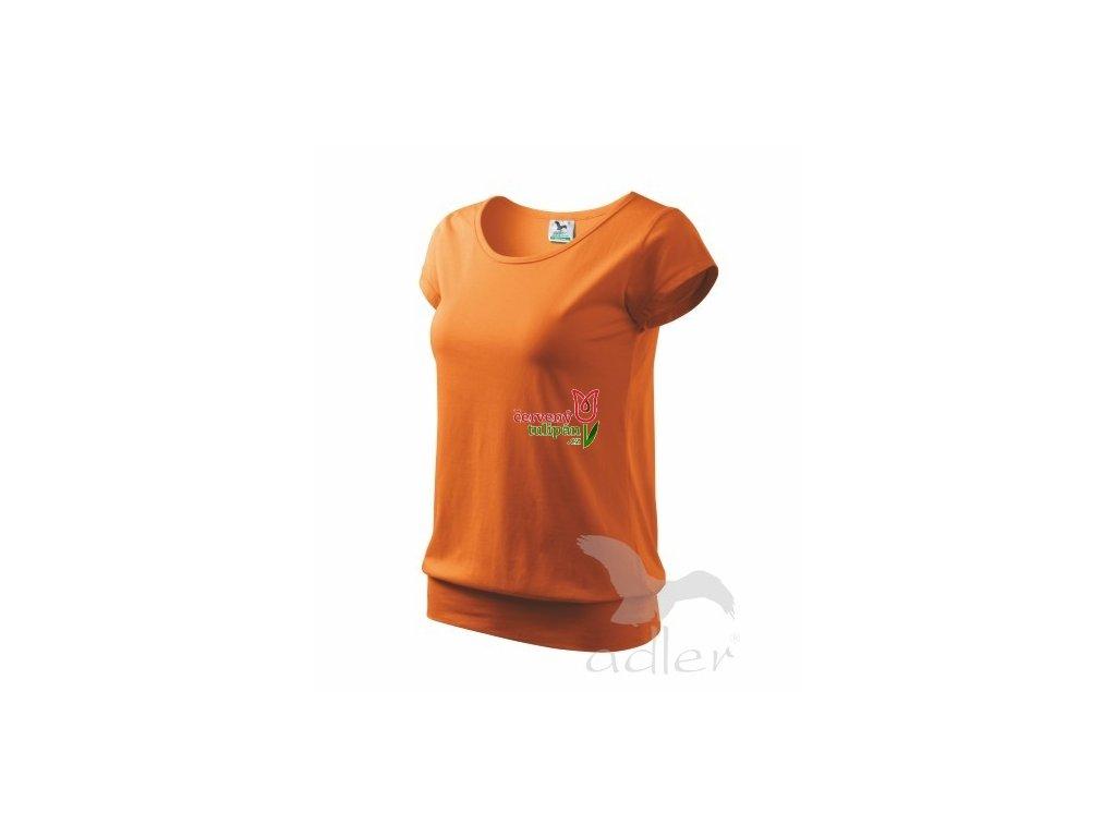 Triko tričko dámské Adler City oranžové