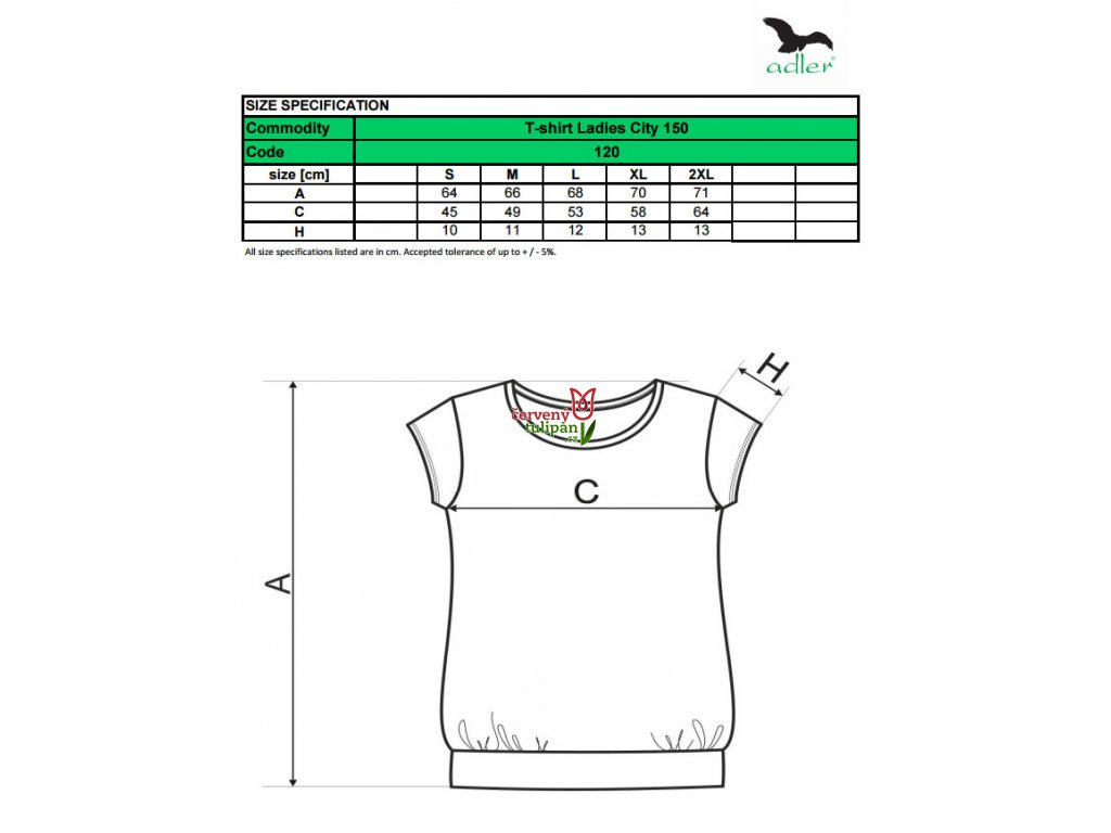 Triko tričko dámské Adler City černé - Červený Tulipán 8df4cff883