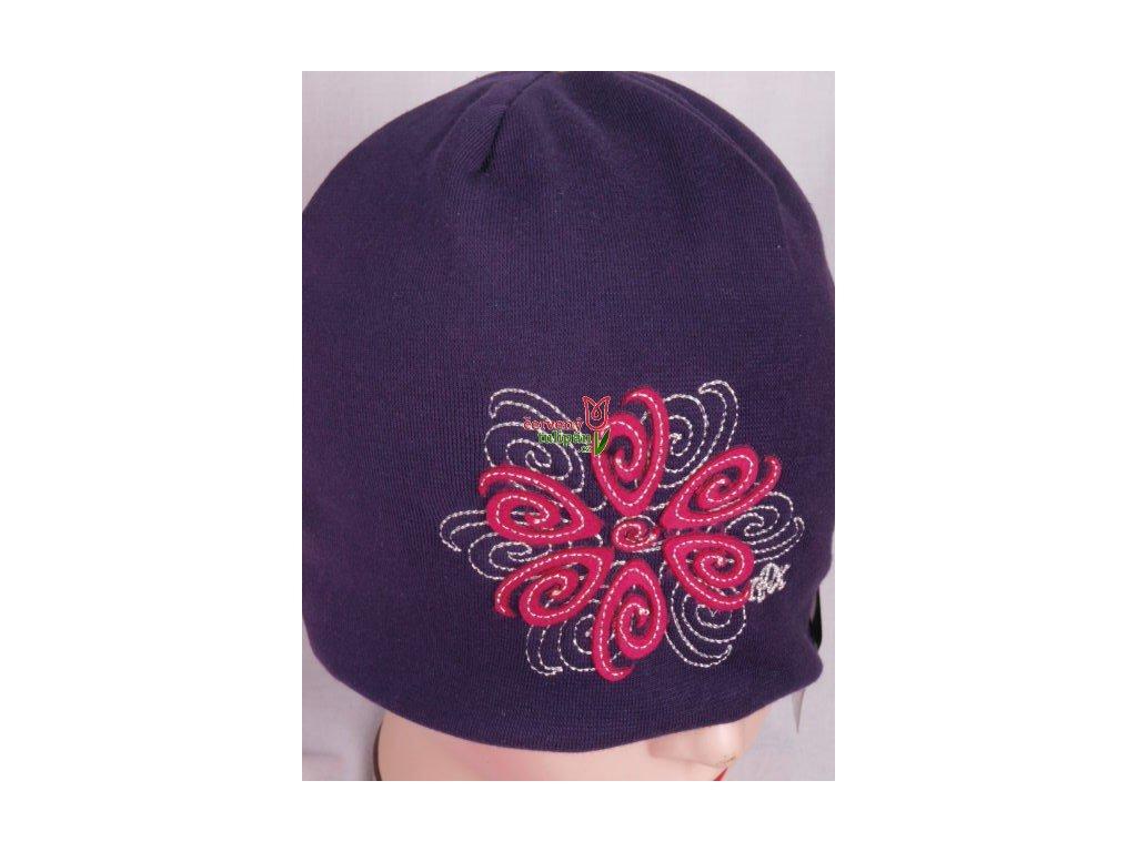 Čepice RDX 1691 tm. fialová - květ