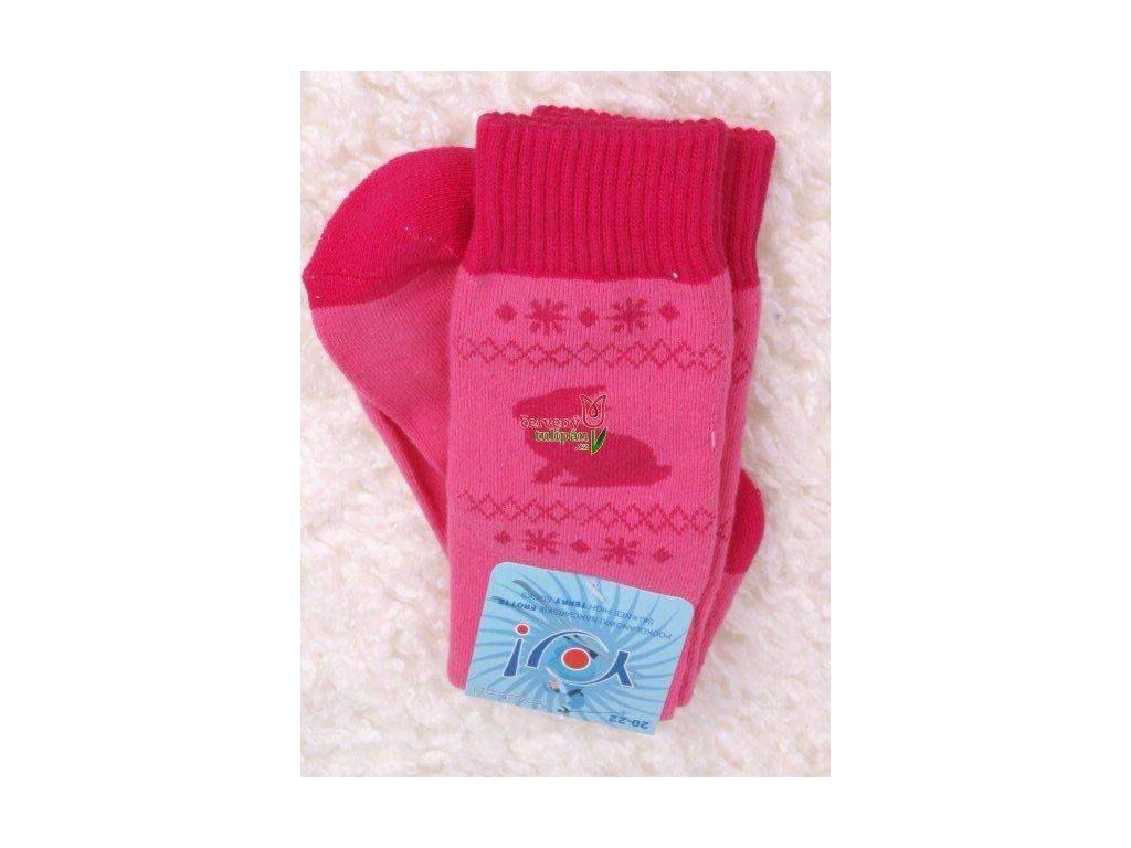 Termo podkolenky dívčí vzor YO222 růžové