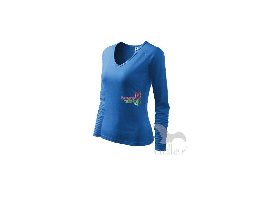 Triko tričko Adler Elegance modré dlouhý rukáv