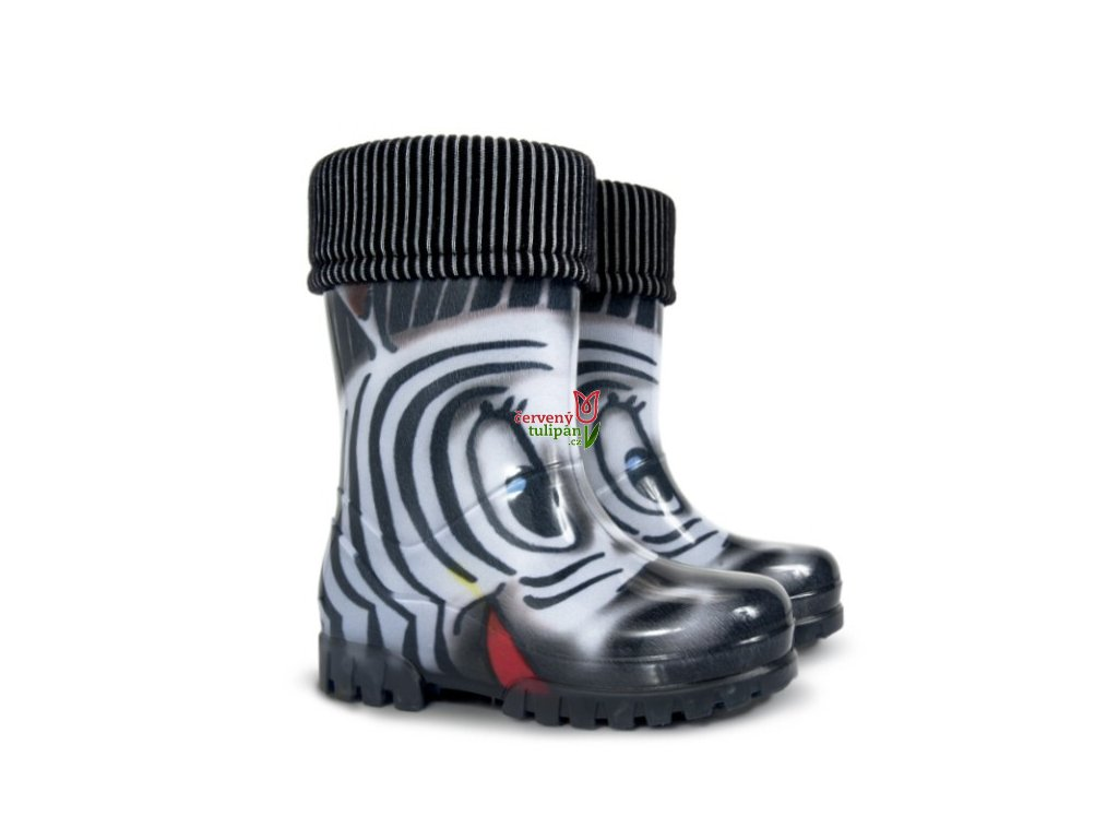 Gumáky / holínky Demar zateplené Twister Lux Print S zebra