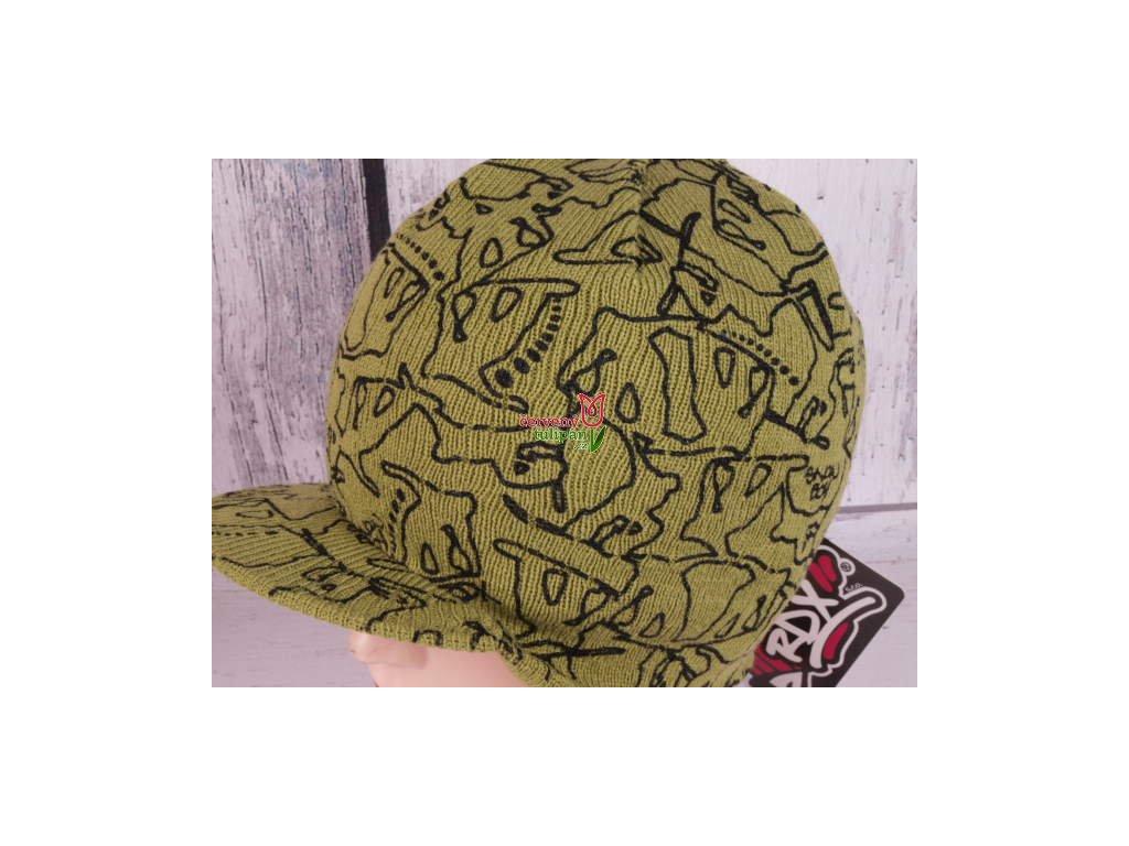 Čepice zimní RDX 3487 zelená s kšiltem - Červený Tulipán 0314ce5a64