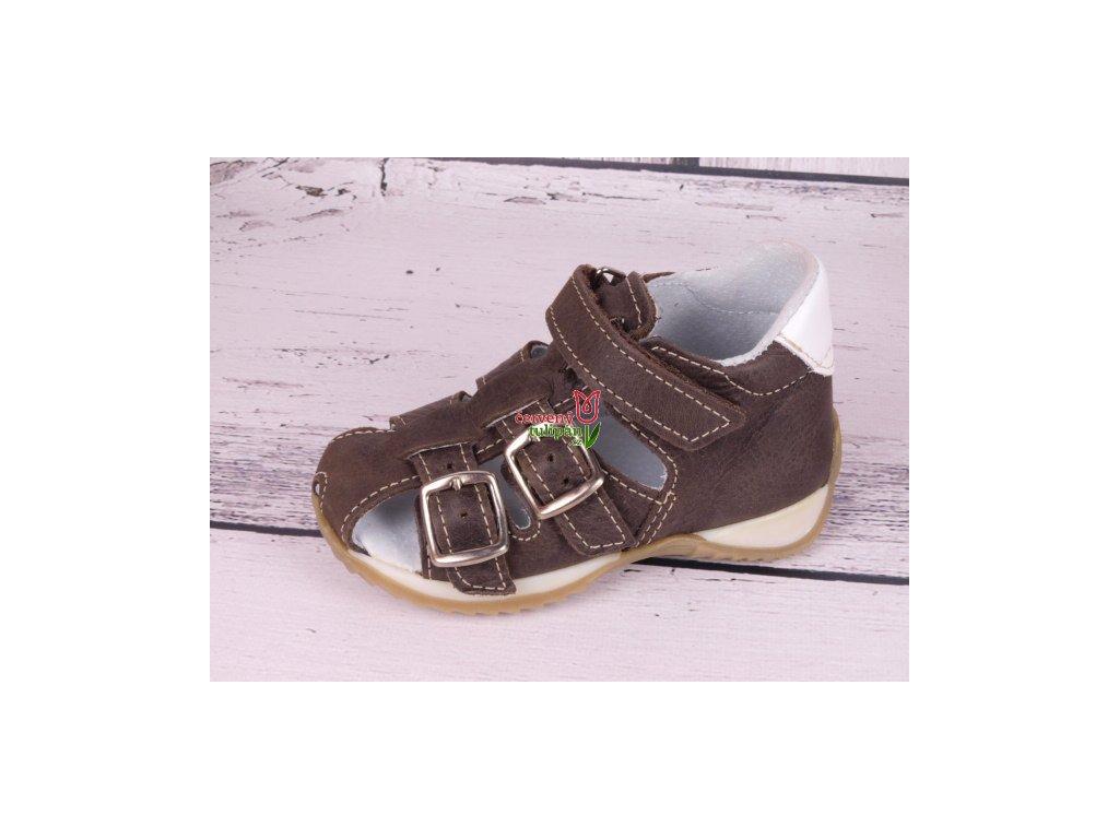 Sandálky JONAP 013M hnědé - Červený Tulipán 6f28571650