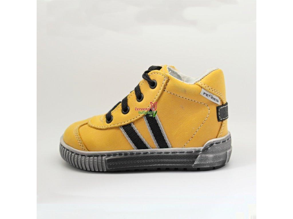83364274e77 Celoroční kožené boty obuv Pegres Elite kotníkové 1401 žluté ...