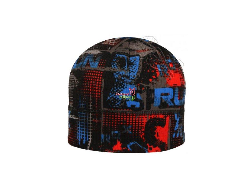 Funkční čepice RDX RUN F333P černo-šedo-modro-červená - Červený Tulipán 3060950aec
