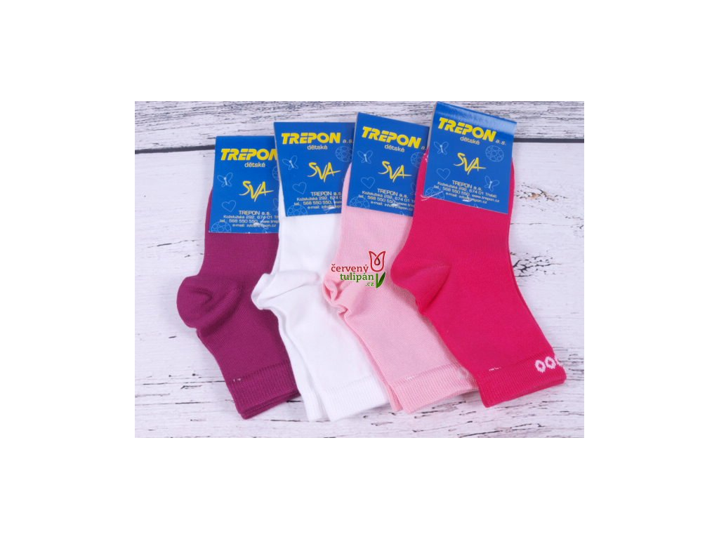 8c71f6efb16 Dětské ponožky TREPON BOBIK bambusové tm. růžové - Červený Tulipán
