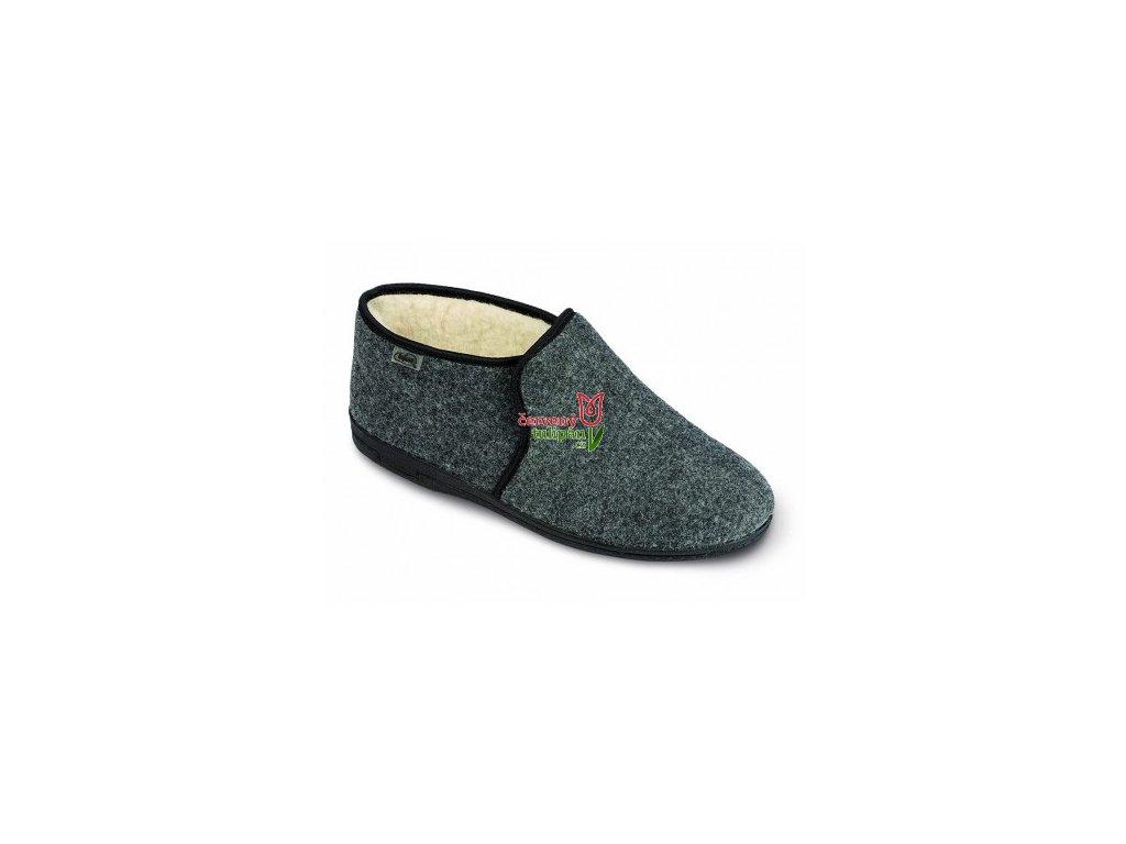 Pánské bačkory papuče důchodky Befado 730M045 teplé šedé - Červený ... f6d1d81bf7