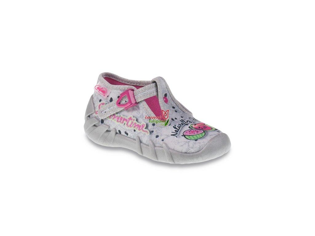 Bačkůrky papučky botičky Befado Speedy 110P317 - Červený Tulipán 02b73f80f5