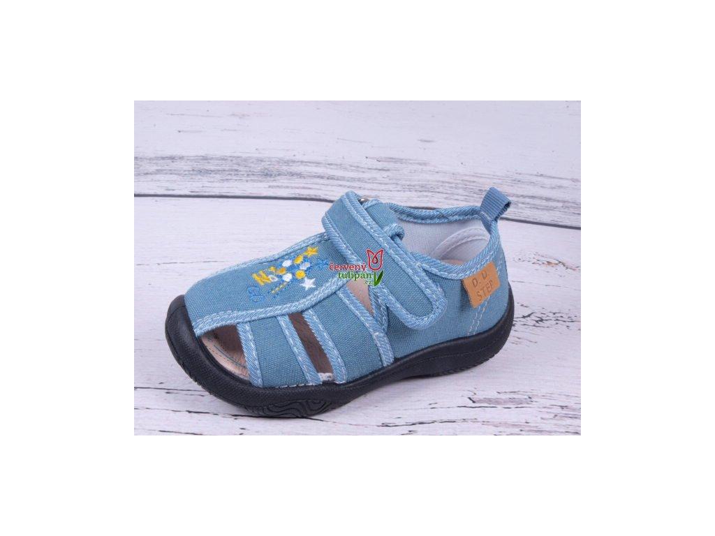 Plátěnky sandálky tenisky bačkůrky D.D. step CSB-070A modré ... 6306c22c68