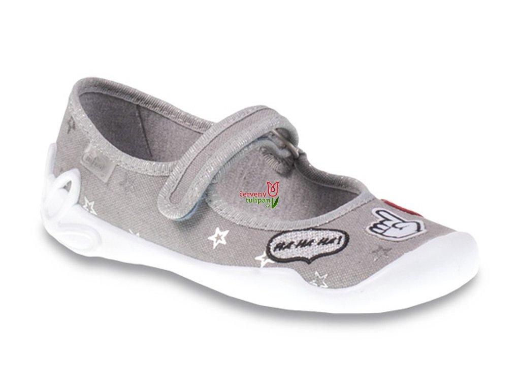 Balerínky bačkory papuče Befado Blanca 114Y287 - Červený Tulipán 34a827e844