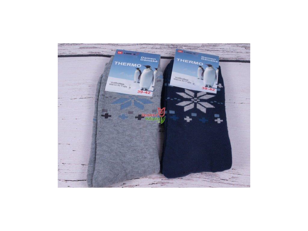 7043c163c23 Termo ponožky UK LOOKeN teplé TM. MODRÉ - Červený Tulipán