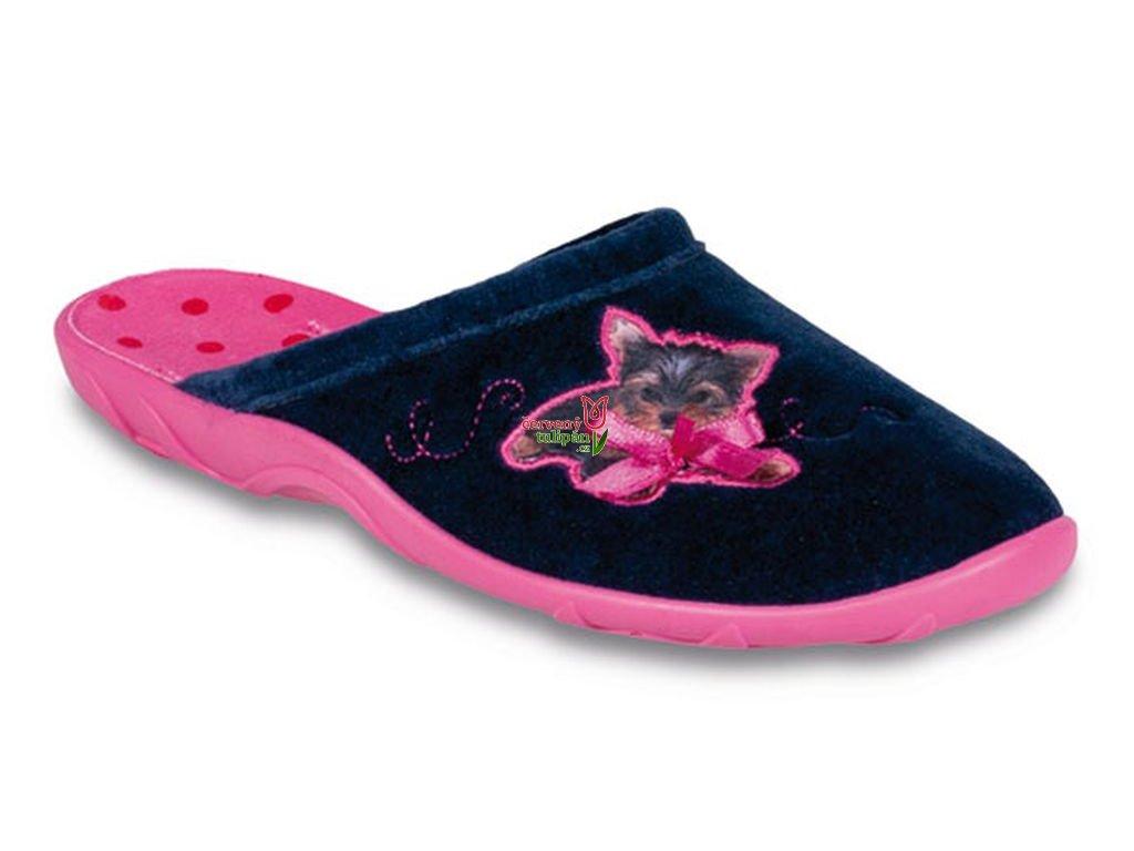 Pantofle papuče bačkory Befado 235D100 s pejskem - Červený Tulipán 622cb8ec3c