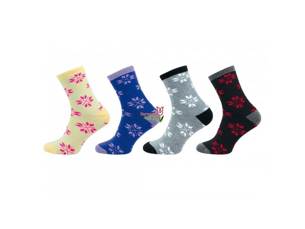 Teplé ponožky Novia froté 1261 žluté - Červený Tulipán 3ff31e511e