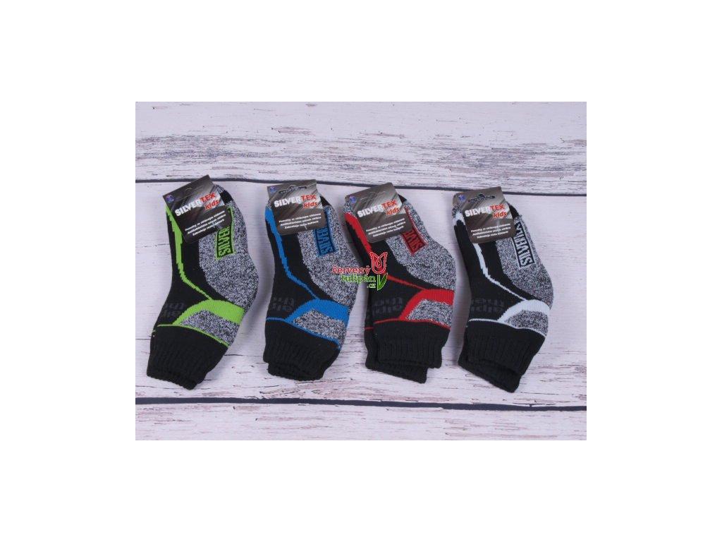 Termo ponožky Novia Silvertex 1525 teplé šedočerné s bílou - Červený ... b4431af7cb