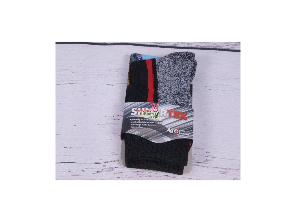 Termo ponožky Novia Silvertex šedočerné s červenou - Červený Tulipán 568257ec01