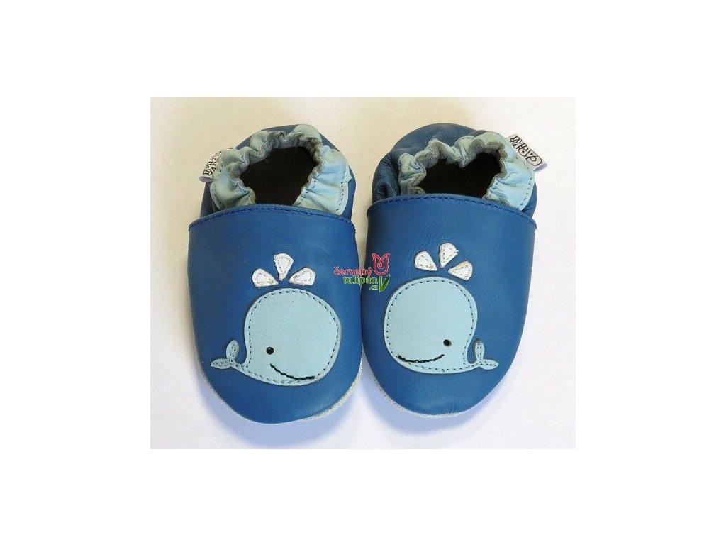 kožené capáčky velrybka modrá2 (1)
