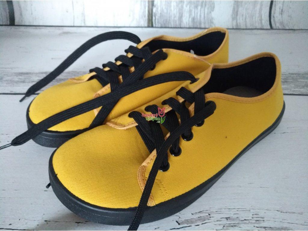 Tenisky plátěnky Anatomic footwear ALL IN A05 žlutočerné hořčicové