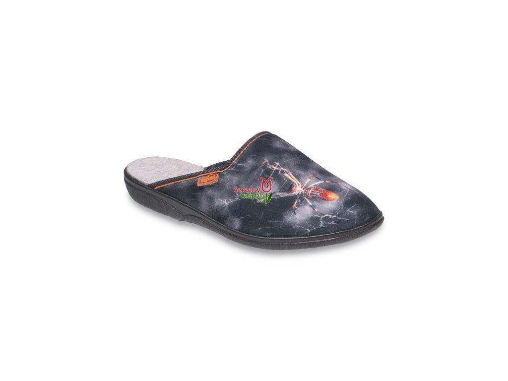 Pantofle papuče bačkory Befado Benny 201Q088 pavouk