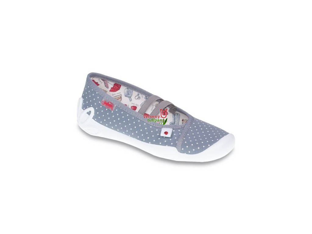 Bačkory papuče balerínky Befado 116Y199 - Červený Tulipán 47b5d83e01
