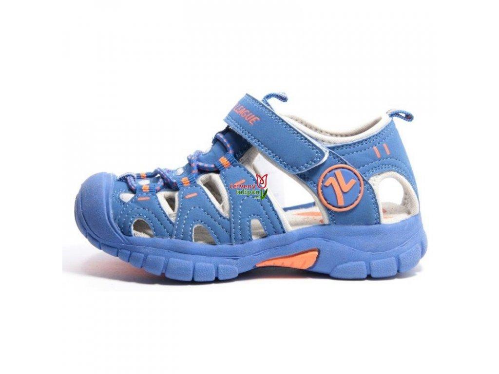 Sportovní sandálky Junior League 3432 modré - Červený Tulipán 2bb21fcf9d