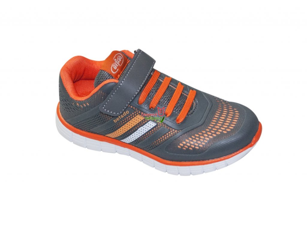 Tenisky BEFADO SPORT 516X007 516Y007 grafit - oranžové