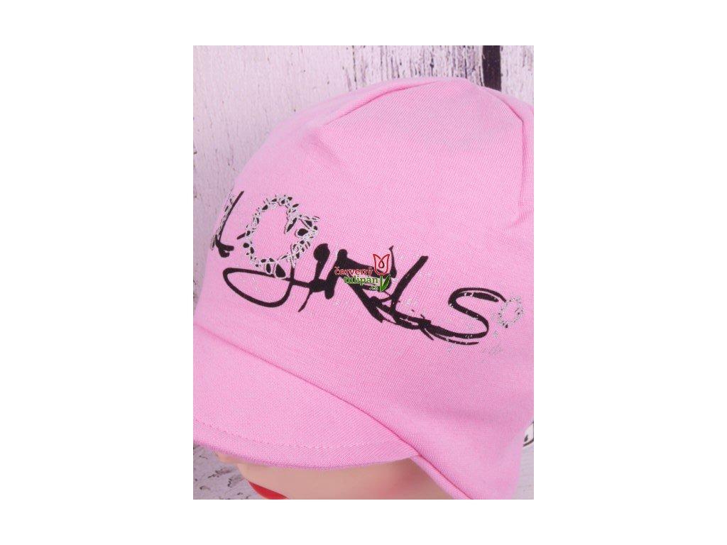 Čepice RDX 2702 sv. růžová s kšiltem