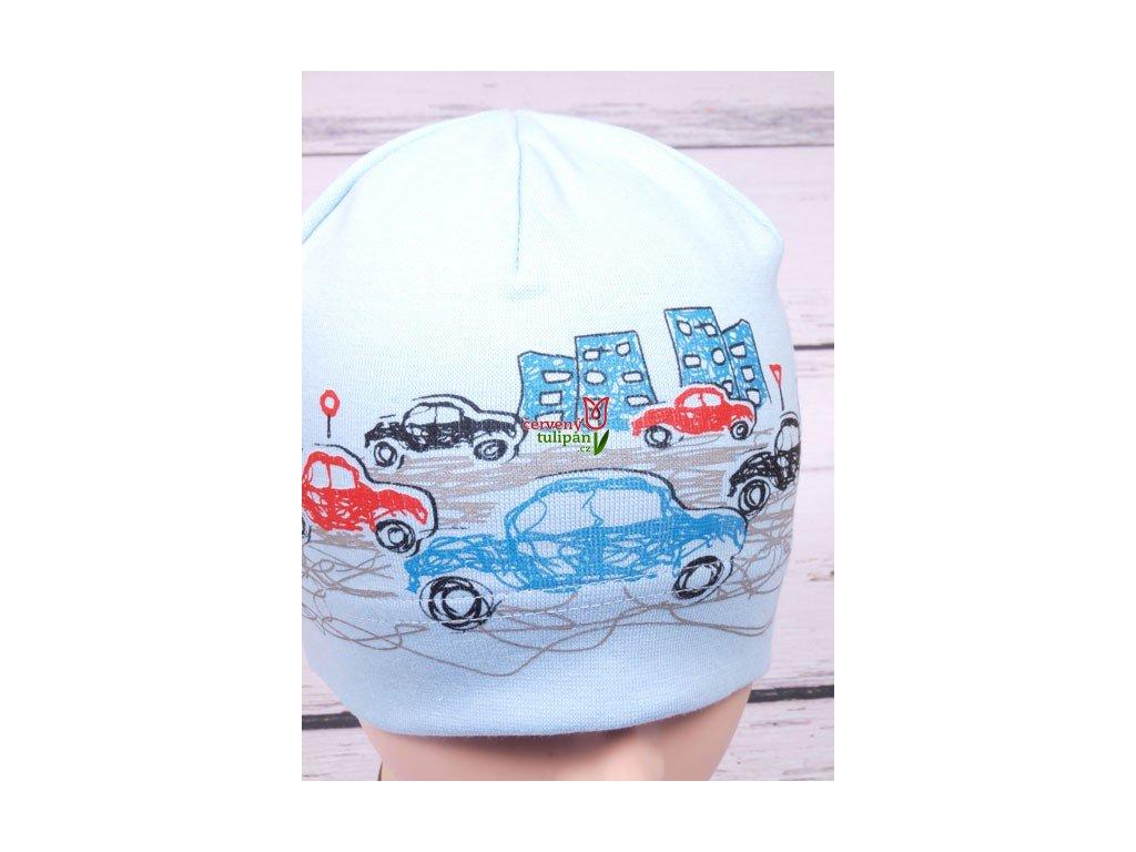 Čepice RDX 2158 sv.modrá s auty