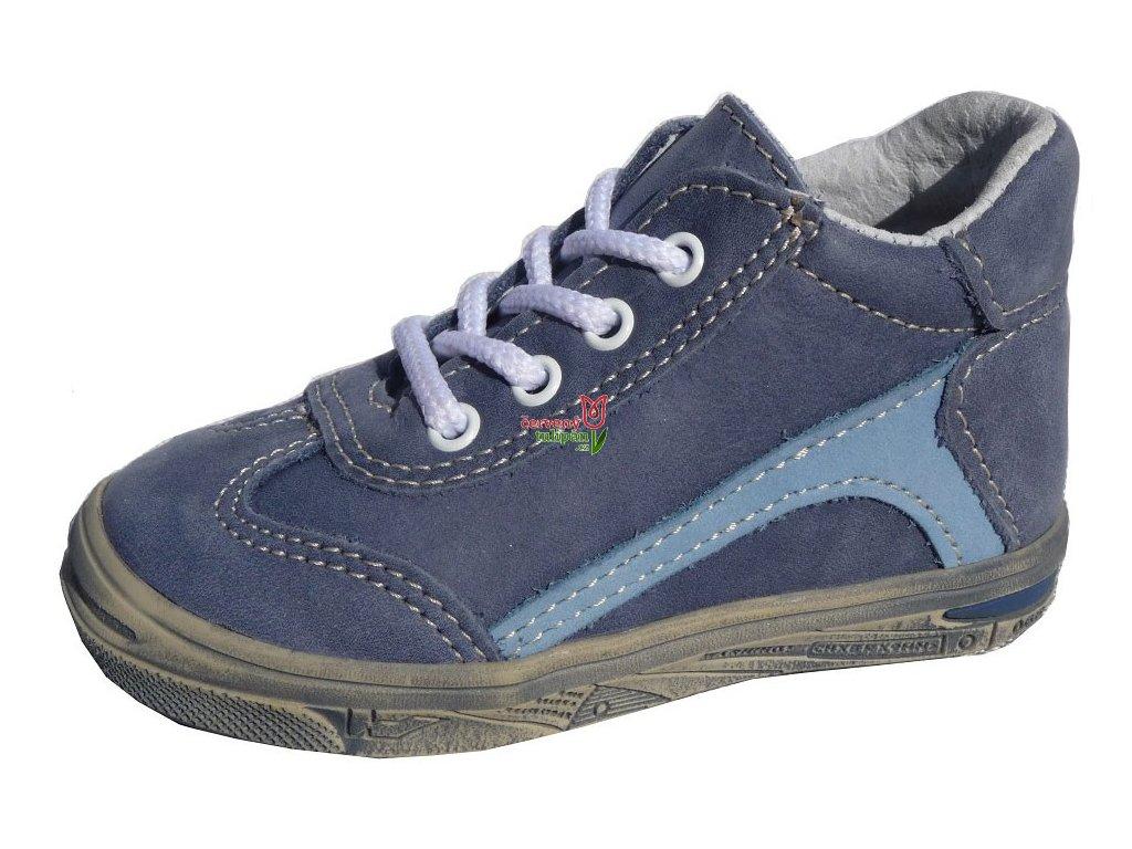 Celoroční kožené botičky obuv JONAP 033M modré 3210