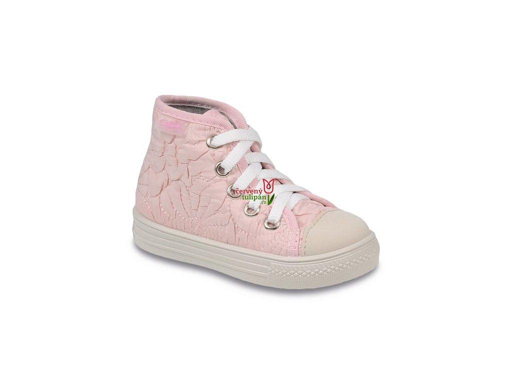 Tenisky plátěnky kecky Befado 436P001 sv. růžové