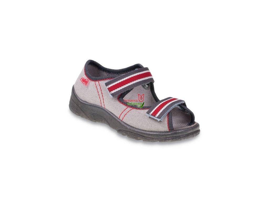 Bačkůrky   sandálky Befado 969X090 - Červený Tulipán 43405ed35a
