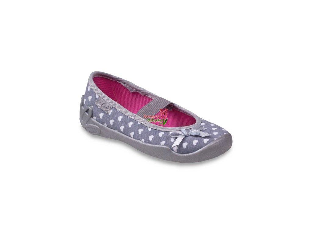 Bačkůrky papučky balerínky Befado 193X044 šedé